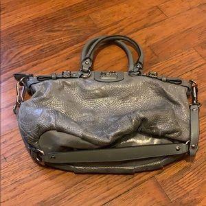 Grey COACH leather bag